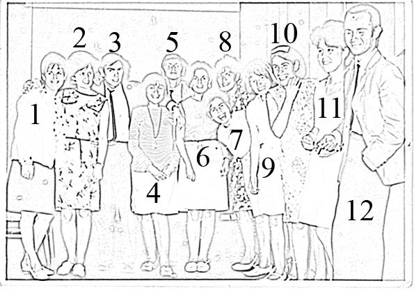 1 elizabeth keitel 2 mariana thompsen 3 julio palacios 4